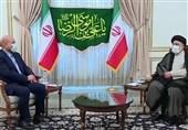 دیدار رییس مجلس با حجت الاسلام رئیسی پس از اعلام نتایج اولیه شمارش آرا