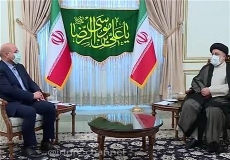 دیدار رئیس مجلس با حجتالاسلام رئیسی پس از اعلام نتایج اولیه شمارش آرا