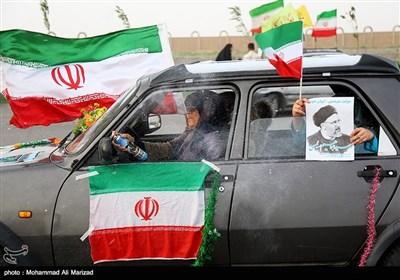 شادی مردم قم پس از پیروزی سیدابراهیم رئیسی در انتخابات