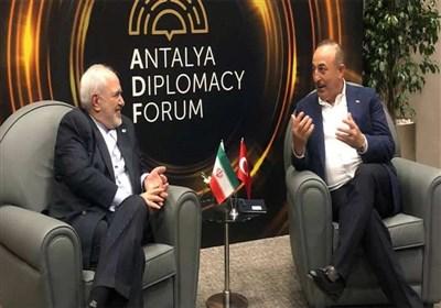 دیدار ظریف با همتایان ترکیهای و لهستانی در حاشیه اجلاس آنتالیا
