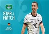 یورو 2020  گوسنز بهترین بازیکن دیدار آلمان و پرتغال شد + عکس