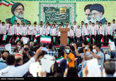 جشن پیروزی ابراهیم رئیسی در انتخابات ریاست جمهوری - میدان امام حسین (ع) - 1