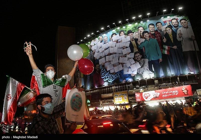 جشن پیروزی ابراهیم رئیسی در انتخابات