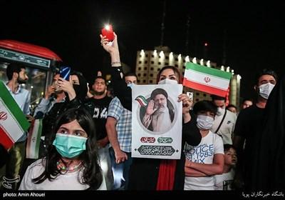 جشن پیروزی ابراهیم رئیسی در انتخابات - 3
