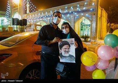 جشن پیروزی ابراهیم رئیسی در انتخابات - کیش