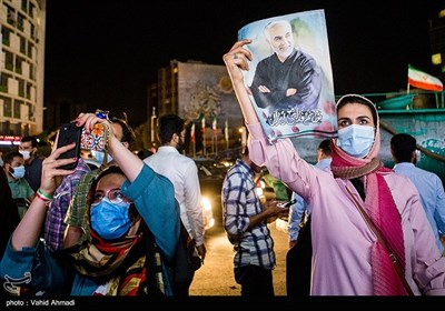 Supporters of Iran's President-Elect Raeisi Celebrate in Streets