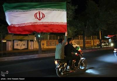 جشن پیروزی ابراهیم رئیسی در انتخابات - قزوین