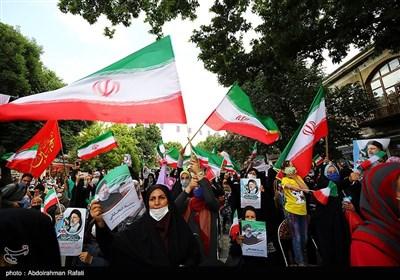 جشن پیروزی ابراهیم رئیسی در انتخابات ریاست جمهوری - همدان