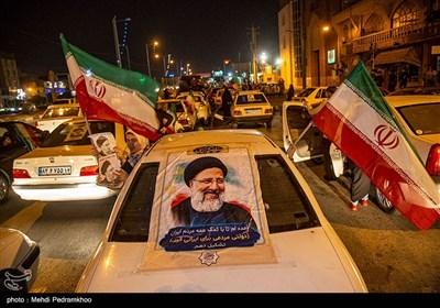 جشن پیروزی ابراهیم رئیسی در اهواز