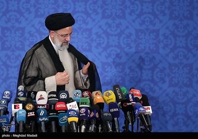 نشست خبری سید ابراهیم رئیسی رئیس جمهور منتخب