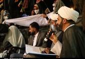 جشن ازدواج زوج جوان روستای دهزیار با حضور خادمان حرم رضوی + تصاویر