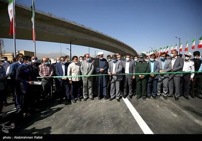 افتتاح پل اصلی تقاطع چند سطحی سردار شهید همدانی