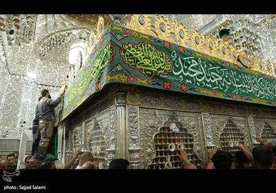 مراسم ولادت امام رضا (ع) در کاظمیه عراق