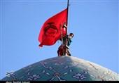 آیین تکریم امامزادگان زیر سایه پرچم حرم رضوی در کرمان به روایت تصویر