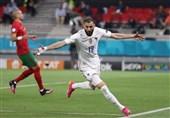 یورو 2020| بنزما به عنوان بهترین بازیکن دیدار پرتغال و فرانسه شناخته شد