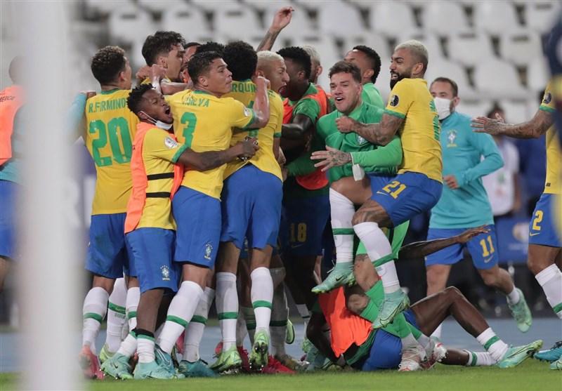 کوپا آمهریکا 2021  برتری دراماتیک و صعود برزیل با گلزنی در دقیقه 100