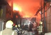 آتشسوزی یک انبار کالا در بازار تهران + تصاویر