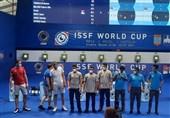 جام جهانی تیراندازی| مدال برنز برای تیم تپانچه بادی مردان