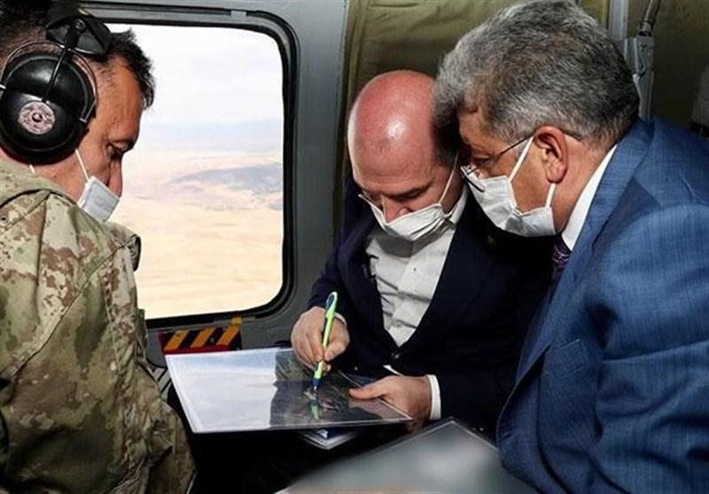 بازدید وزیر کشور ترکیه از دیوار امنیتی مرزی با ایران