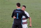 یورو 2020  رونالدو در پایان بازی بلژیک - پرتغال به کورتوا چه گفت؟