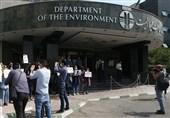 تجمع اهالی رسانه مقابل سازمان محیط زیست در اعتراض به عملکرد کلانتری + تصاویر