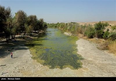 جاری شدن آب در بخشی از زاینده رود