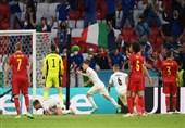 یورو 2020  پیروزی یک نیمهای ایتالیا مقابل بلژیک