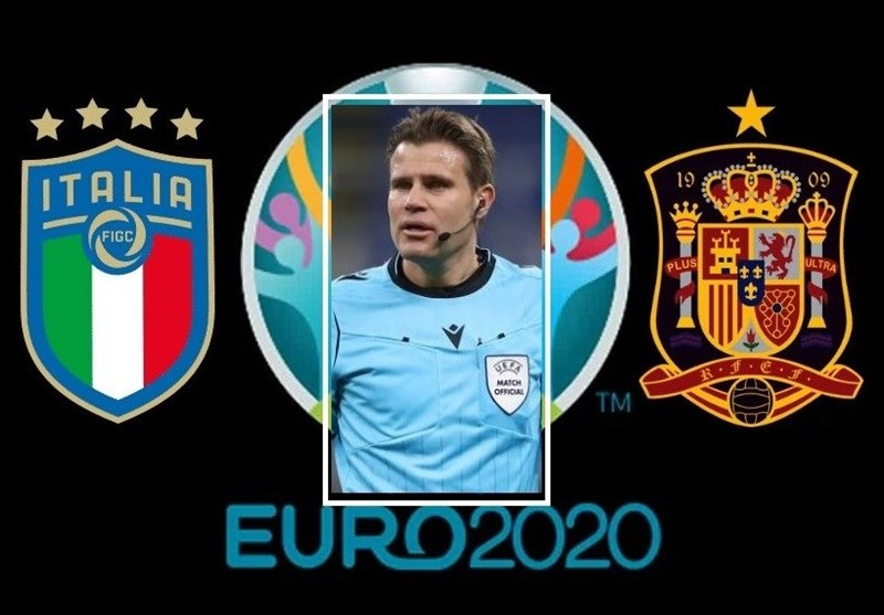 یورو 2020| بریش دیدار حساس ایتالیا - اسپانیا را سوت میزند