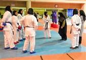حضور فرهادیزاد در تمرین تیم ملی کاراته بانوان