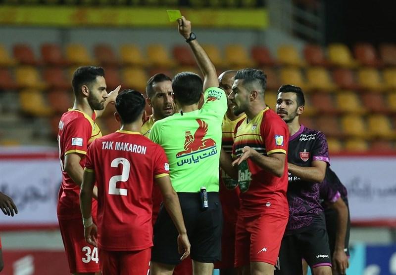 لیگ برتر فوتبال | تساوی سرد و کسل کننده فولاد و پرسپولیس در نیمه نخست