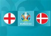 یورو 2020| ترکیب اصلی تیمهای ملی انگلیس و دانمارک مشخص شد