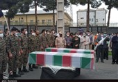 ورود و استقبال از پیکر 2 شهید گمنام دوران دفاع مقدس به گلستان+ تصاویر