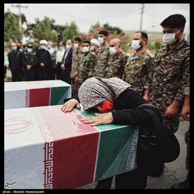 ورود پیکر 2 شهید گمنام دوران دفاعمقدس به استان گلستان