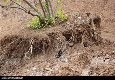 رانش زمین در روستای طیولا اشکورات -گیلان