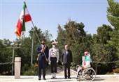برگزاری مراسم جابجایی پرچم میان پرچمداران المپیک ریو و توکیو
