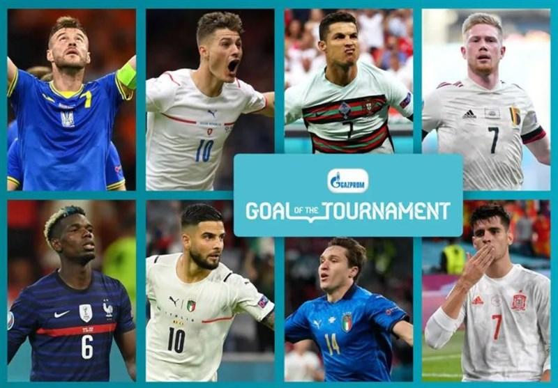 رقابت رونالدو با دیبروینه و پوگبا در عنوان بهترین گل یورو ۲۰۲۰