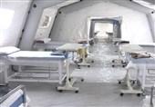 فاز نخست بیمارستان موقت هزار تختخوابی بندرعباس به بهره برداری رسید + فیلم