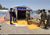 برپایی بیمارستان صحرایی در شهرستان نهبندان+ تصاویر