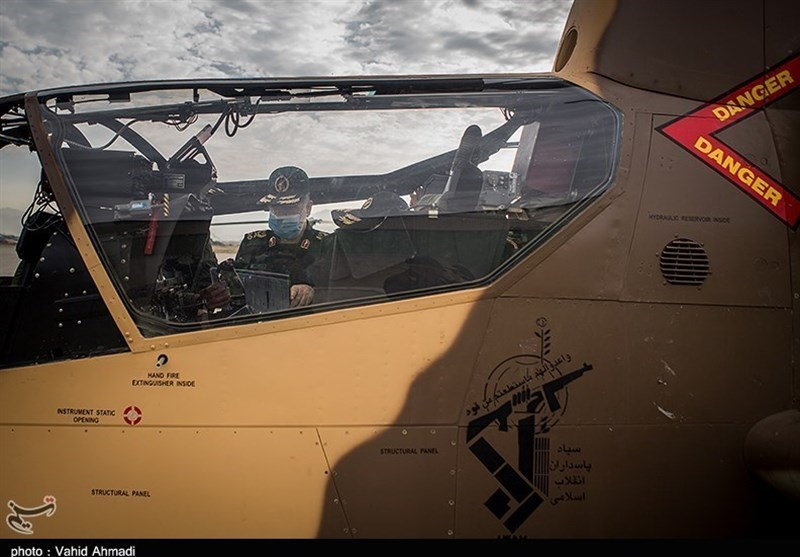 IRGC Copters Carrying Out Operations to Put Out Wildfires in Iran