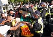 اعتراضات کرونایی در لندن به خشونت کشیده شد