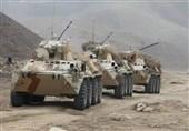 قدرتنمایی نیروهای نظامی و تانکهای روسیه در نزدیکی مرزهای افغانستان