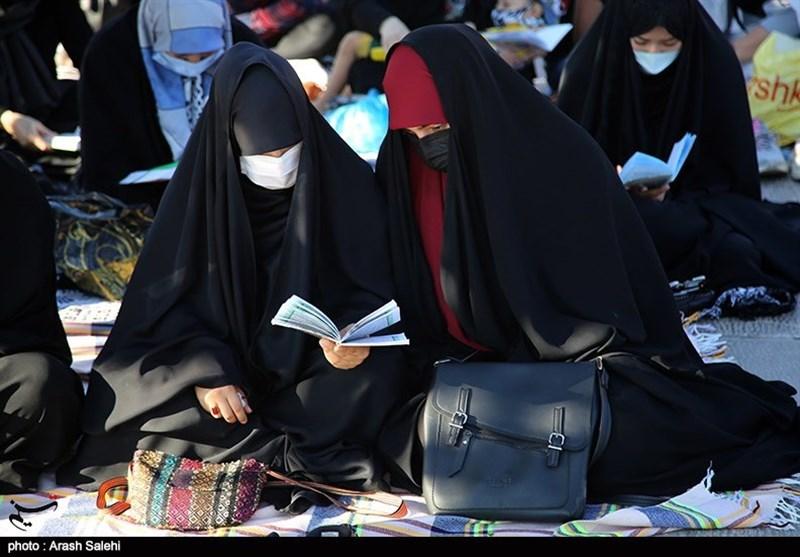 مراسم دعای عرفه در امامزاده حسین(ع) قزوین به روایت تصویر