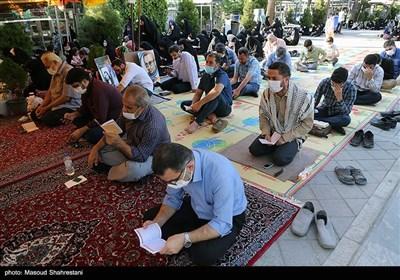 مراسم قرائت دعای عرفه در بهشت زهرا(س)