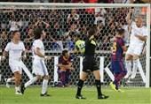 پیروزی رئال مادرید مقابل بارسلونا در «الکلاسیکوی اسطورهها» + عکس