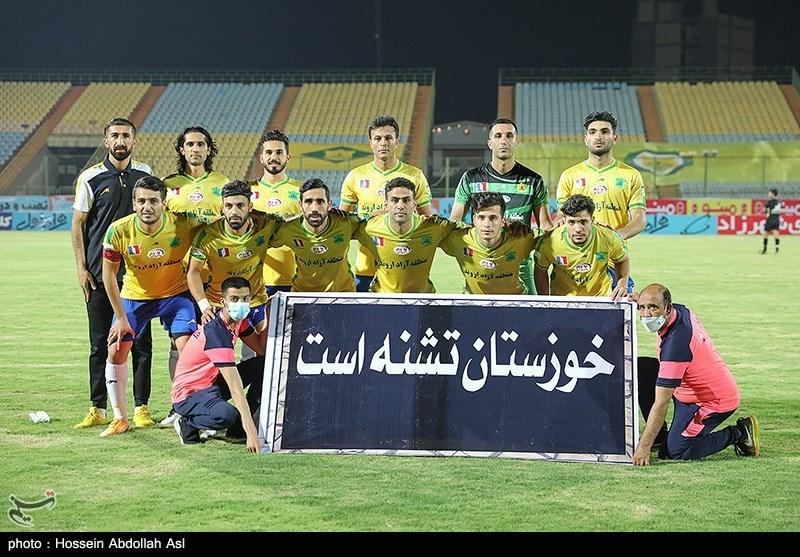 دیدار تیم های فوتبال صنعت نفت آبادان و مس رفسنجان