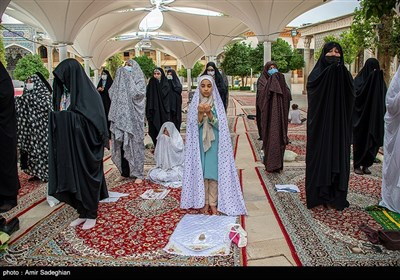 نماز عید سعید قربان در حرم مطهر حضرت شاهچراغ (ع)