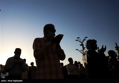 نماز عید سعید قربان در حرم مطهر امام رضا (ع)
