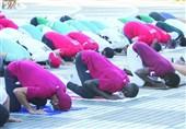نماز عید قربان ورزشکاران مسلمان در دهکده المپیک
