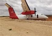 طائرة رکاب تتعرض لحادث جنوب الصومال