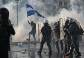 درگیری خشونت بار پلیس یونان با معترضان به واکسیناسیون اجباری